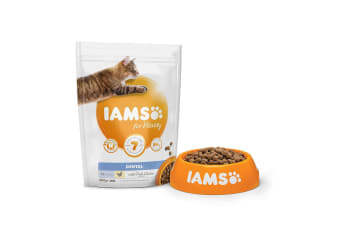 Iams Adult Vitality Dental Chicken Dry Cat Food (May Vary) (2kg)