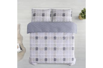 Printed Cotton Sateen Quilt Cover Set Queen Bed Nawa