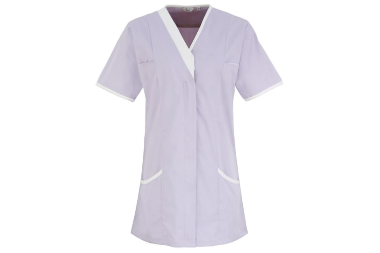 Premier Womens/Ladies Daisy Healthcare Work Tunic (Pack of 2) (Lilac/ White) (24UK)