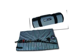 MSA ULTIMATE LARGE TOOL ROLL TOOL CUTLERY 20 TRAVEL STORAGE POCKETS BAG KIT NEW