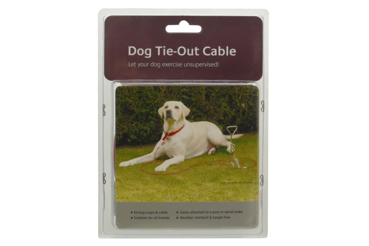 Rosewood Dog Tie-Out Cable (Red) (20in)