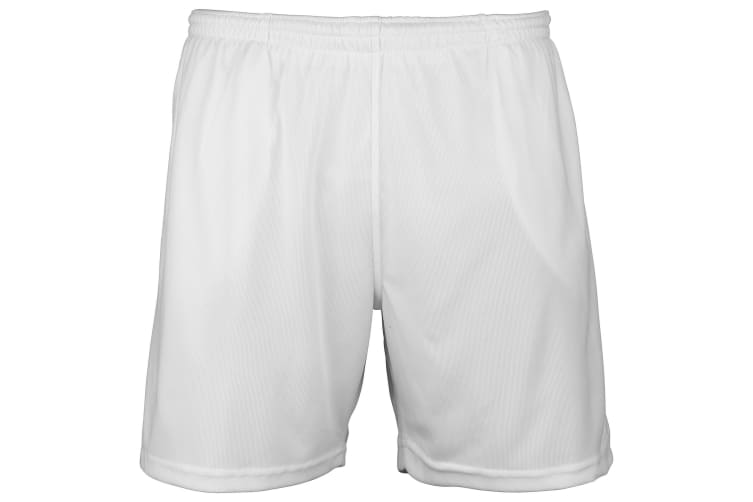 Just Cool Mens Sports Shorts (Arctic White) (L)