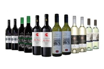 Ultimate Premium Red & White Mixed Wine (12 Bottles)