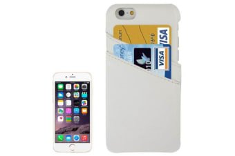 For iPhone 6S 6 Case Fashion Handmade Genuine Leather Cover Card Slot White