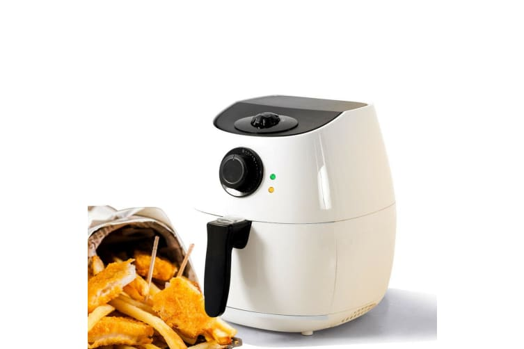 SPECTOR 4L Air Fryer Healthy Cooker Low Oil Rapid Deep Frying Kitchen Oven White