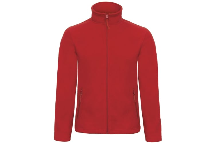 B&C Collection Mens ID 501 Microfleece Jacket (Red) (3XL)