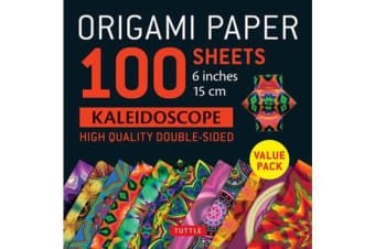 """Origami Paper 100 sheets Kaleidoscope 6"""" (15 cm) - Tuttle Origami Paper: High-Quality Double-Sided Origami Sheets Printed with 12 Different Patterns: Instructions for 6 Projects Included"""