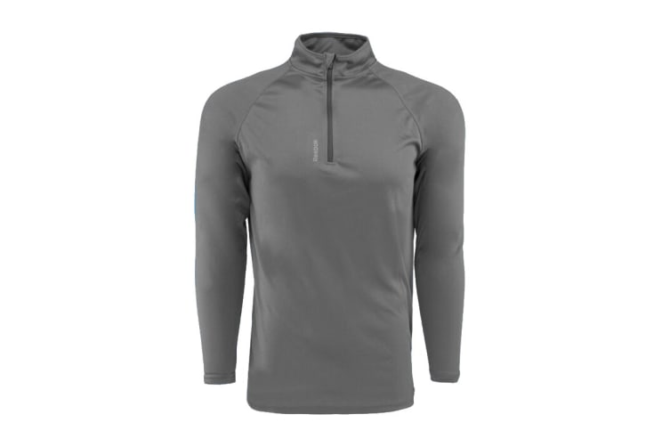 Reebok Men's Play Dry 1/4 Zip Jacket (Graphite, Size L)