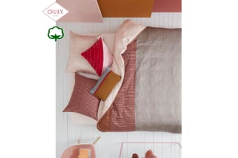 Cotton Sateen Quilt Cover Set Pale Blush Sand by Oilily
