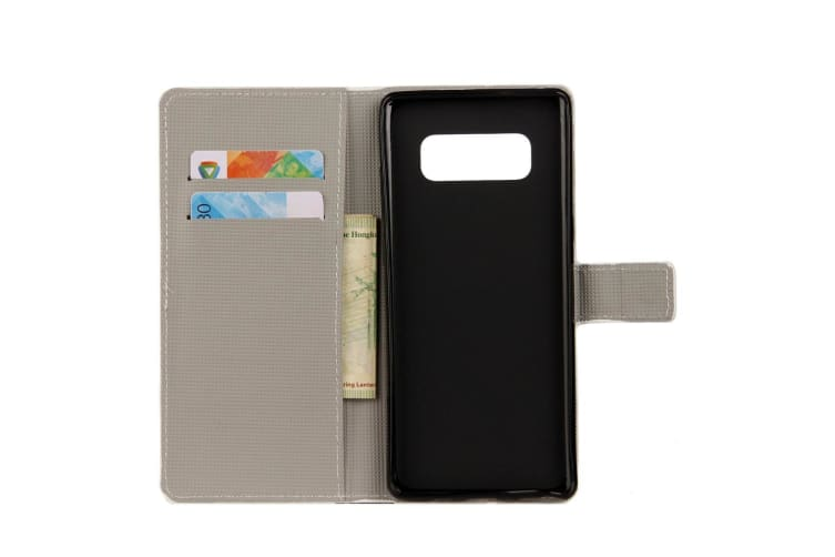 For Samsung Galaxy Note 8 Wallet Case Owl Family Leather Protective Cover