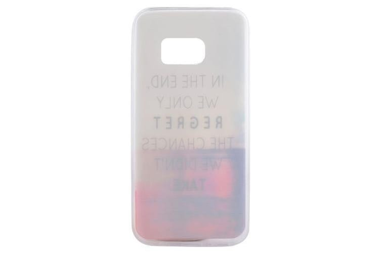 """For Samsung Galaxy S7 Case """"Never Regret Life"""" Durable Shielding Cover"""