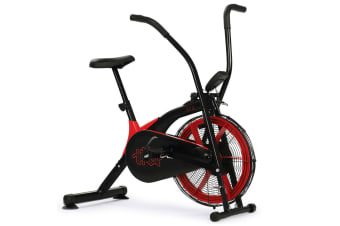 PROFLEX Air Bike Fan Resistance Exercise Fitness Bicycle Home Gym Black Pulse