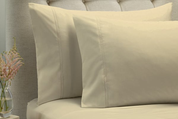 Style & Co 1000TC 100% Egyptian Cotton Essex Bed Sheet Set (Queen, Vanilla)