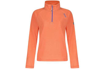 Regatta Great Outdoors Womens/Ladies Montes Half Zip Fleece Top (Pumpkin)