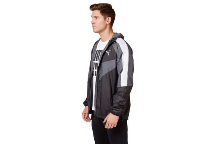 Puma Men's PWRVent Windbreaker Jacket (Black, Size L)