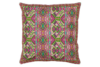 Paoletti Mykonos Cushion Cover (Fuchsia/Kingfisher)