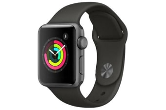 APPLE WATCH 42MM GRAY WITH GRAY SPORT BAND (362) (6 MONTHS WARRANTY)