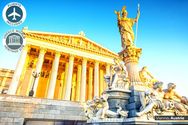 EUROPE: 13 Day Central Europe Tour Including Flights for Two