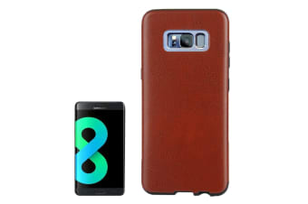 For Samsung Galaxy S8 PLUS Case Stylish Horse Texture Slim Leather Cover Coffee