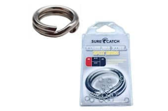 3 x Packets of Surecatch Stainless Steel Fishing Split Rings For Fishing Lures - Size 8H
