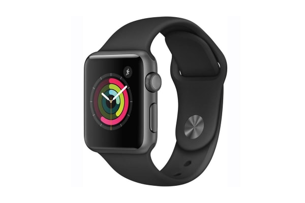 Apple Watch Series 1 (38mm, Space Gray, Black Sport Band)