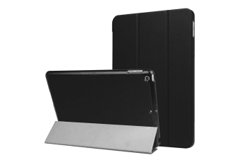 new styles 3cb7b 3c990 For iPad 2018 2017 9.7in Case Stylish Karst Textured 3-fold Leather Cover  Black