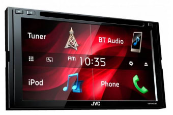 "JVC KW-V430BT DOUBLE DIN 6.8"" SCREEN DVD BLUETOOTH CD RADIO TUNER USB AUX NEW"