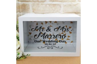 Personalised Wedding Wishing Well Card Box