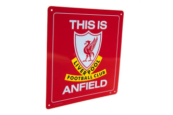 Liverpool FC This Is Anfield Sign (Red)
