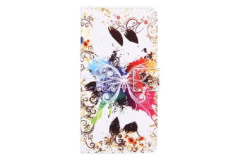 For iPhone 8 PLUS 7 PLUS Wallet Case Crystal Butterfly Protective Leather Cover