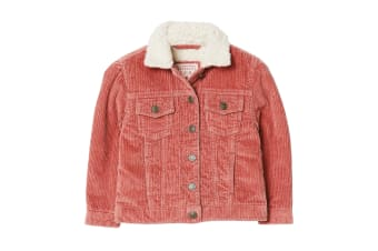 FatFace Childrens Girls Cord Jacket (Deep Rose) (4-5 Years)