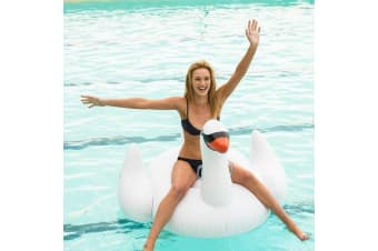 Sunnylife Giant Inflatable Swan Pool Toy Float 138cm