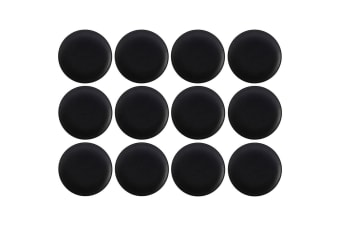 12pc Maxwell & Williams 20cm Caviar Coupe Serving Tableware Side Plate Black