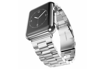 For Apple Watch iWatch Series 5 4 3 2 1 Stainless Steel Watch Band for 42mm-Silver
