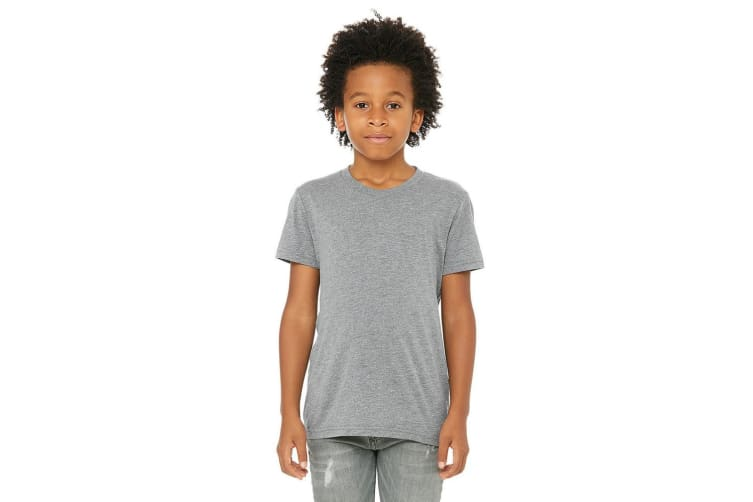 Bella + Canvas Youth Triblend T-Shirt (Grey Triblend) (S)