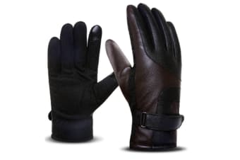 Stylish And Elegant Winter Warm Touch Screen Gloves For Men Coffee