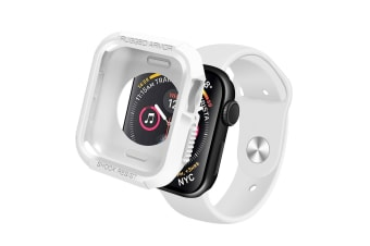 [Rugged Armor] Apple Watch Series 4 5 Case iWatch Cover for 44mm Bumper TPU-White