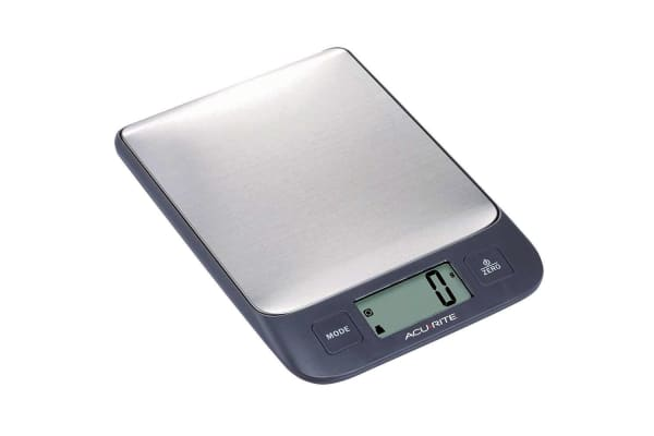 AcuRite Stainless Steel Digital Kitchen Nutrition Food Electronic Weight Scale