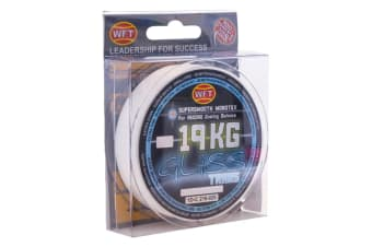 300m Spool of 19kg Transparent WFT Gliss Monotex Hybrid Fishing Line