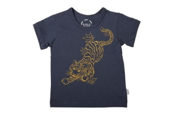 Bonds Baby The Crew Tee (Navy/Yellow)