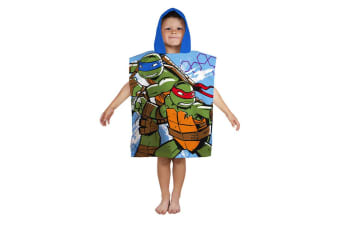 Teenage Mutant Ninja Turtles Official Dimension Poncho (Multicoloured) (50cm x 115cm)
