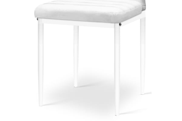 Set of 4 PVC Dining Chairs (White)