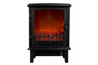 Electric Fireplace Heater 1800W Heller Heating Flame Fire Effect Freestanding
