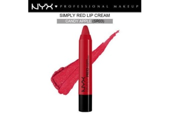Nyx Simply Red Lip Cream #Sr03 Candy Apple Bold Creamy Red