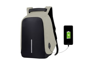 Milano Anti Theft Backpack with USB Port (Sand)