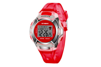 Children'S Watch Nightlight Waterproof Sports Electronic Watch Red