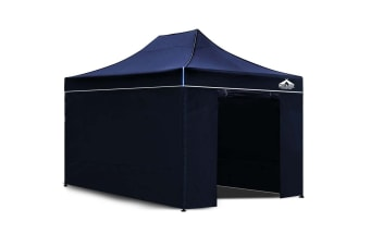 3x4.5 Pop Up Gazebo Hut with Sandbags (Navy)