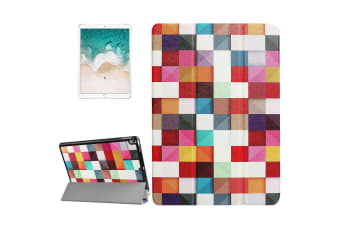 For iPad Pro 10.5inch Case Stylish Colorful Box Pattern Durable Protective Cover