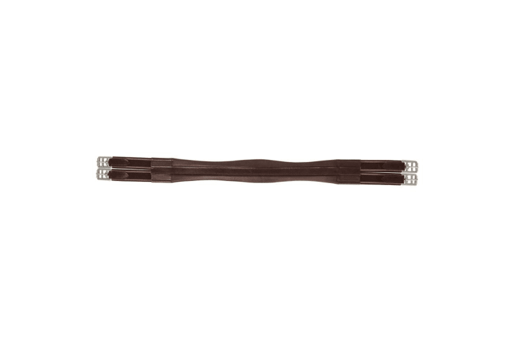 HyCOMFORT Leather Padded Double Elasticated Atherstone Girth (Brown) (52in)