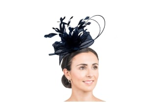 Hawkins Collection Womens/Ladies Feather Fascinator (Navy) (One Size)